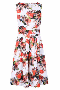 Izabel London Floral Fit & Flare Dress