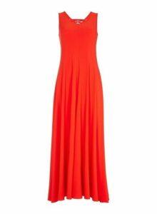 Womens *Roman Originals Red Eyelet Detail Maxi Dress- Red, Red