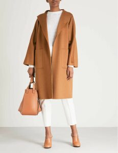 Max Mara Women's Brown Lilia Cashmere Wrap Coat