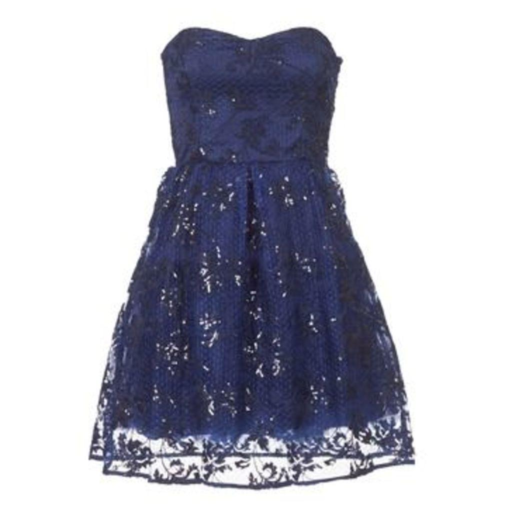 Naf Naf  LIBERIA  women's Dress in Blue