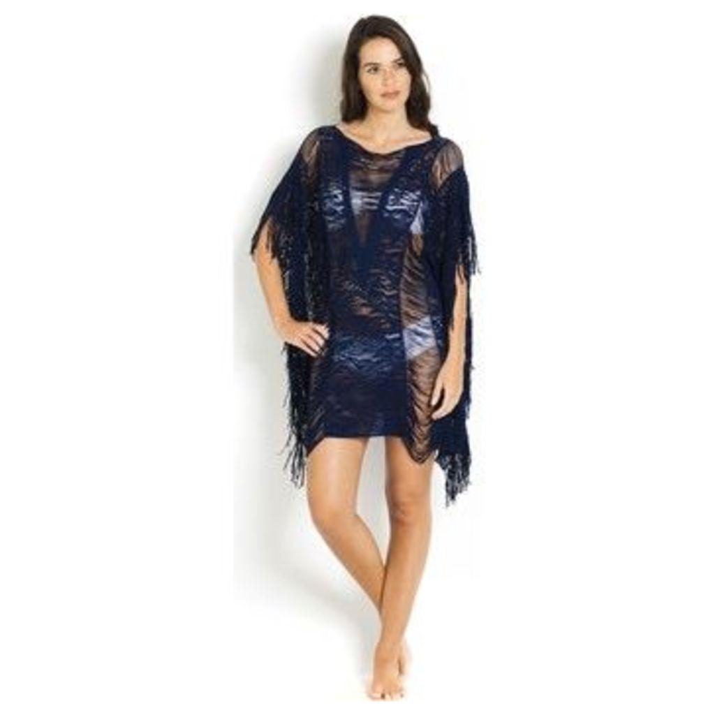 Pain De Sucre  Cover-ups Lace Elise  Navy - Lace Poncho  women's Tunic dress in Blue