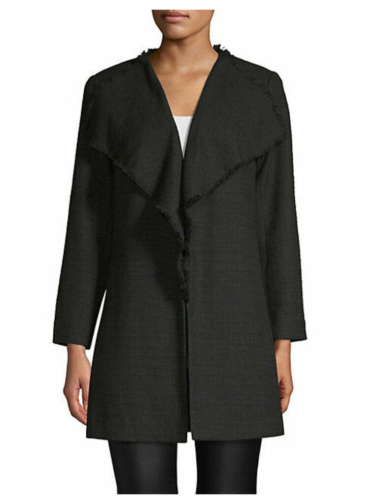Textured Tweed Coat
