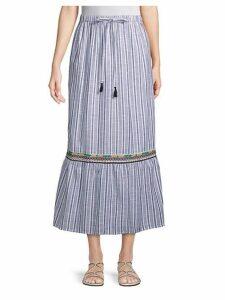 Sailor Cotton Midi Skirt
