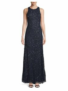 Sequined Crunchy Halter Dress