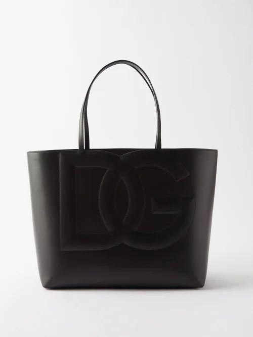 Christian Louboutin - Cabata Spike Embellished Leather Tote - Womens - Black