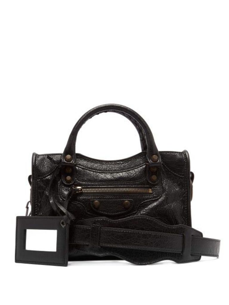 Balenciaga - Classic City Mini Leather Bag - Womens - Black