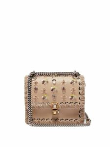 Fendi - Kan I Whipstitched Leather Cross Body Bag - Womens - Light Pink
