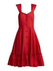 Gioia Bini - Camilla Ruffle Trimmed Dress - Womens - Red
