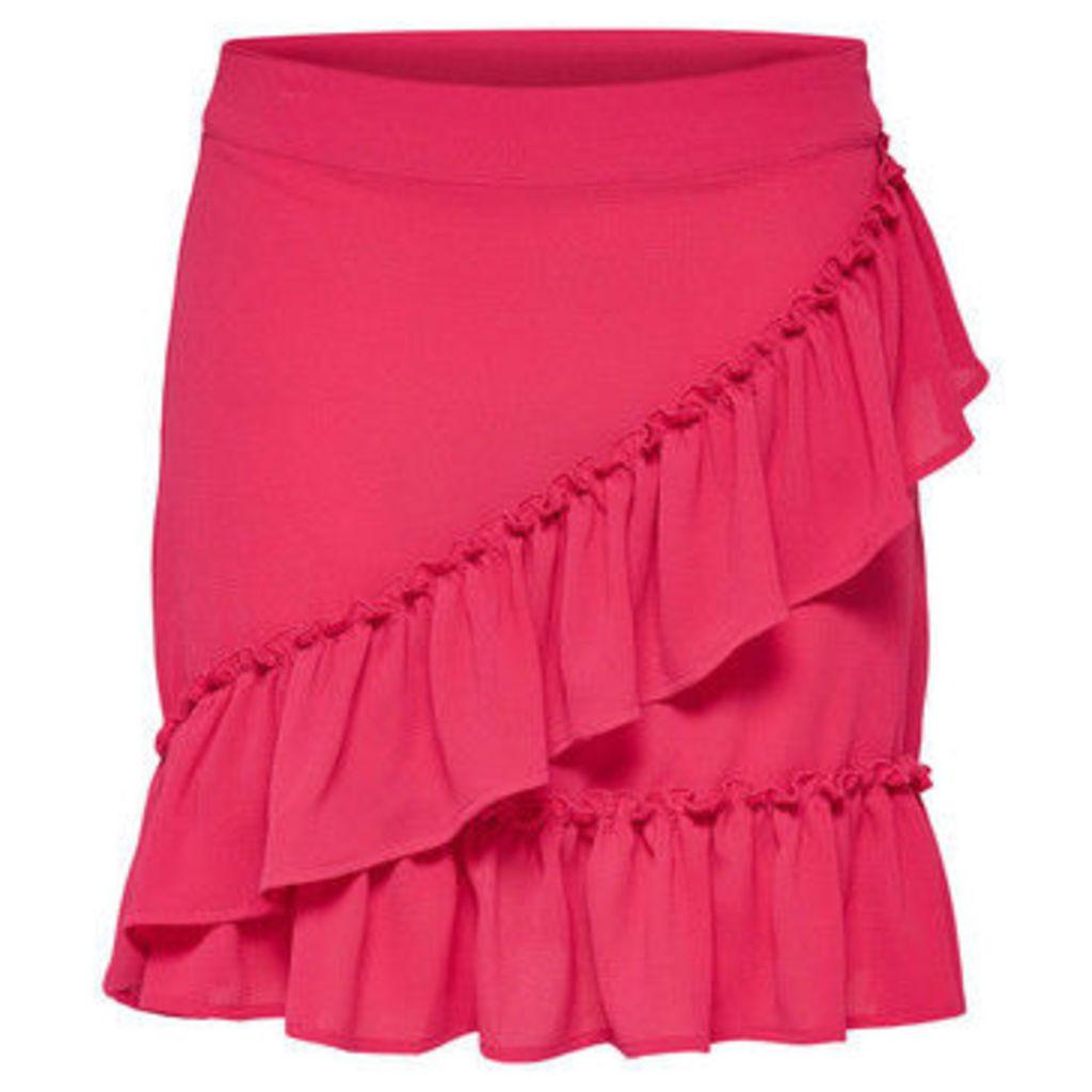 Only  FALDA  onlNOVA WRAP SKIRT SOLID LUX WVN  women's Skirt in Pink