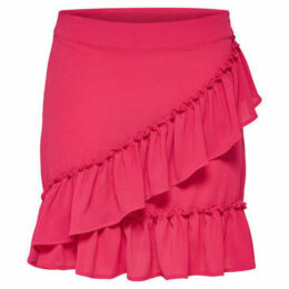 Only  FALDA  onlNOVA WRAP SKIRT SOLID LUX WVN  women's Skirt in Pink