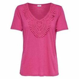 Jacqueline De Yong  CAMISETA  JDYDODO S/S TOP JRS  women's Polo shirt in Pink