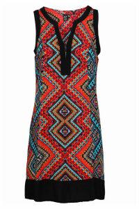 Izabel London Tribal Shift Dress