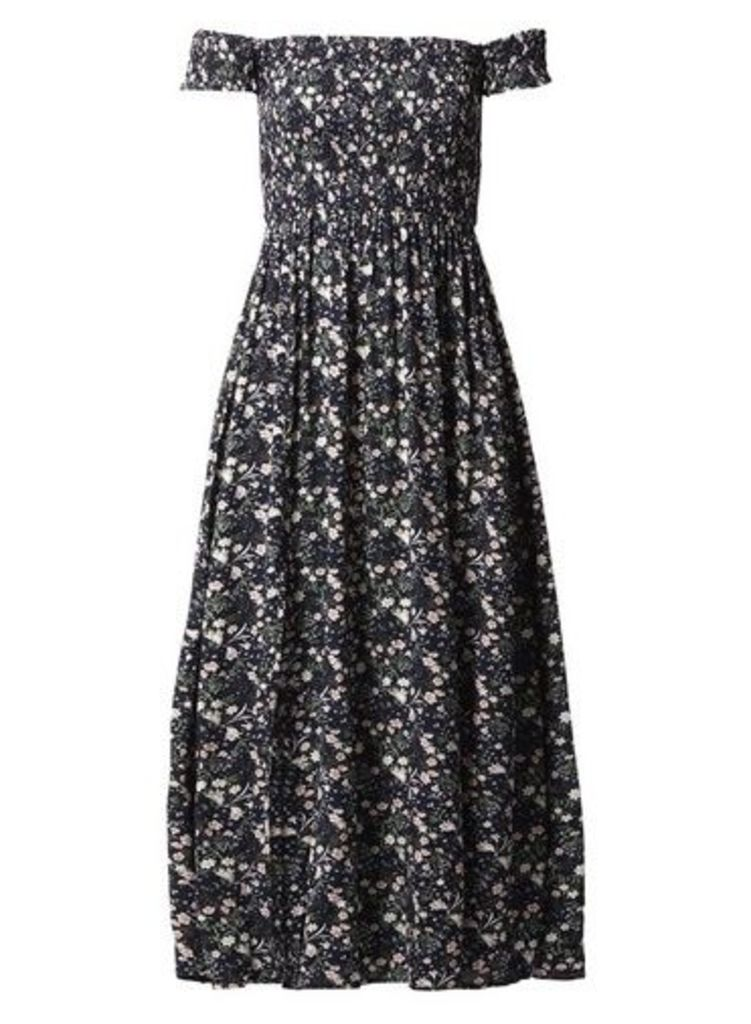 Womens *Izabel London Navy Floral Maxi Dress- Navy, Navy