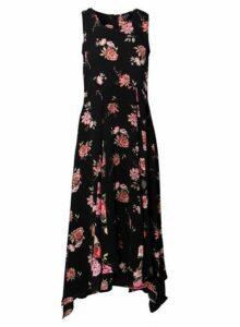 Womens *Izabel London Multi Black Floral Fit And Flare Dress- Multi Colour, Multi Colour