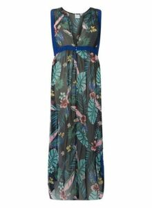 Womens **Juna Rose Curve Black Base Maxi Dress- Multi, Multi