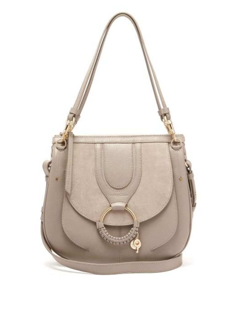 See By Chloé - Hana Suede And Leather Satchel Cross Body Bag - Womens - Grey