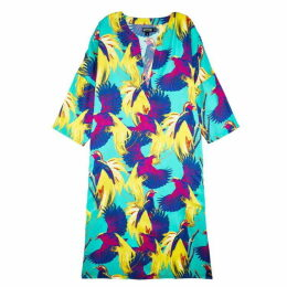 Vilebrequin Birds Of Paradise Silk Tunic Dress