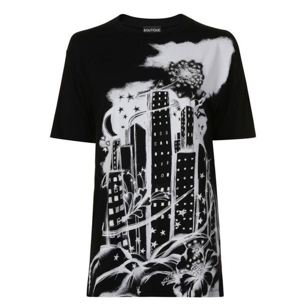 BOUTIQUE MOSCHINO Skyline T Shirt