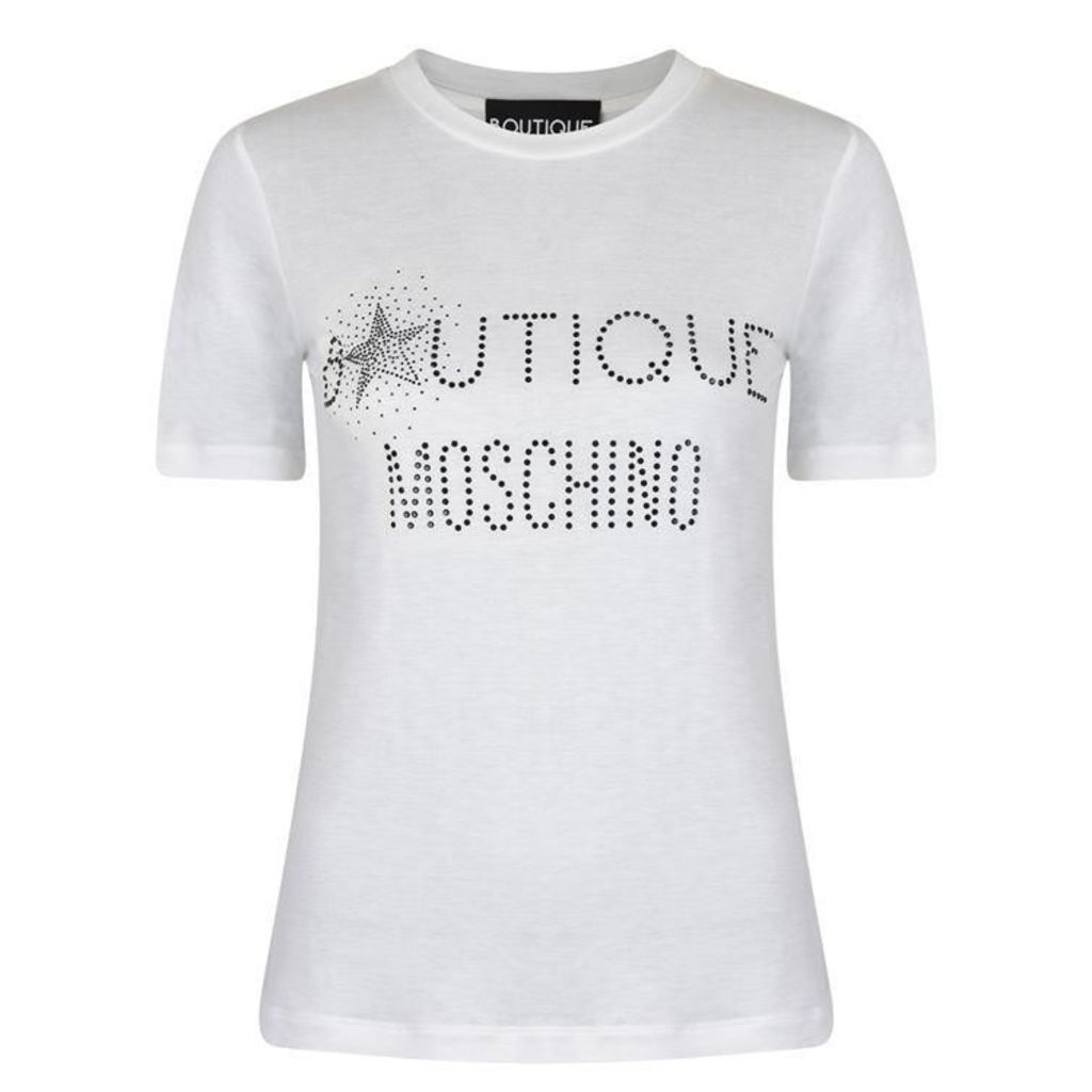 BOUTIQUE MOSCHINO Sparkle Logo T Shirt