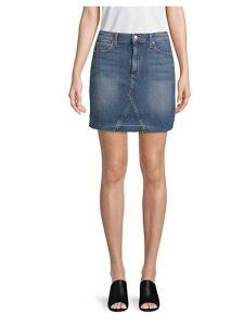 Darcy High-Waisted Denim Skirt