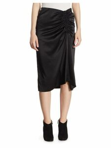 Tonal Stitched Knee-Length Skirt