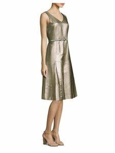 Lois Metallic A-Line Dress
