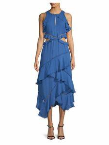 Camila Ruffled Sleeveless Dress