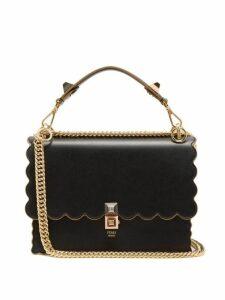 Fendi - Kan I Leather Shoulder Bag - Womens - Black