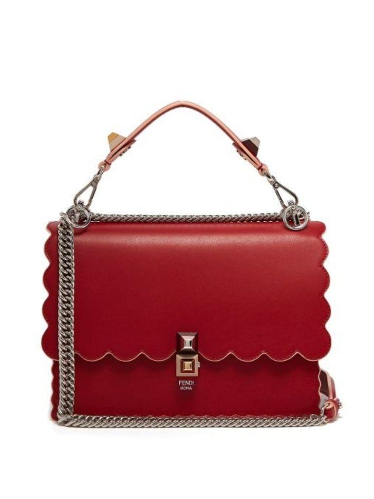 Fendi - Kan I Leather Shoulder Bag - Womens - Red
