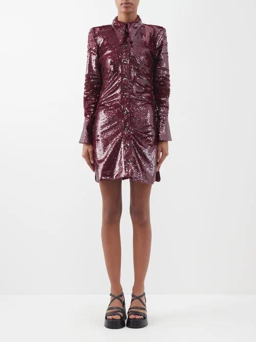 Stella Mccartney - Falabella Mini Faux Suede Reversible Tote Bag - Womens - Light Pink