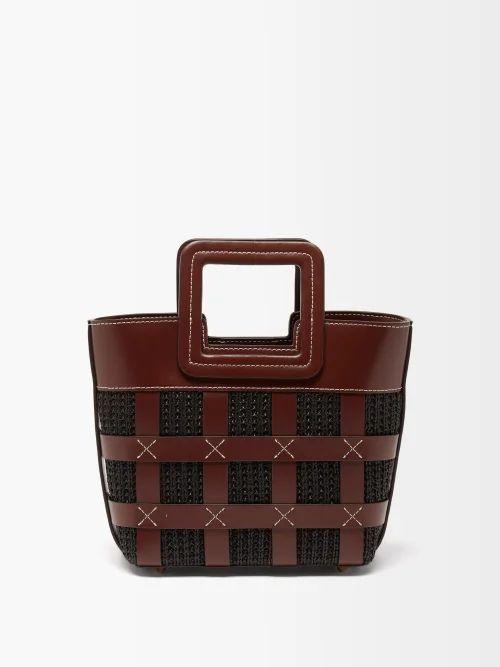 Prada - New Vela Leather Trimmed Belt Bag - Womens - Red Multi