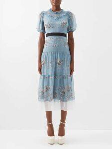 Fendi - Kan I Small Leather Cross Body Bag - Womens - Light Blue