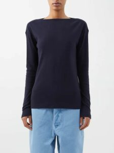 Roland Mouret - Mulligan Lurex Jacquard Skirt - Womens - Navy Multi