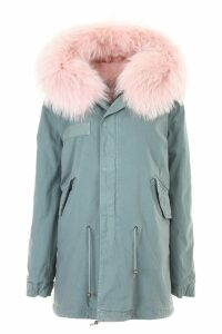 Mr & Mrs Italy Midi Parka With Fur