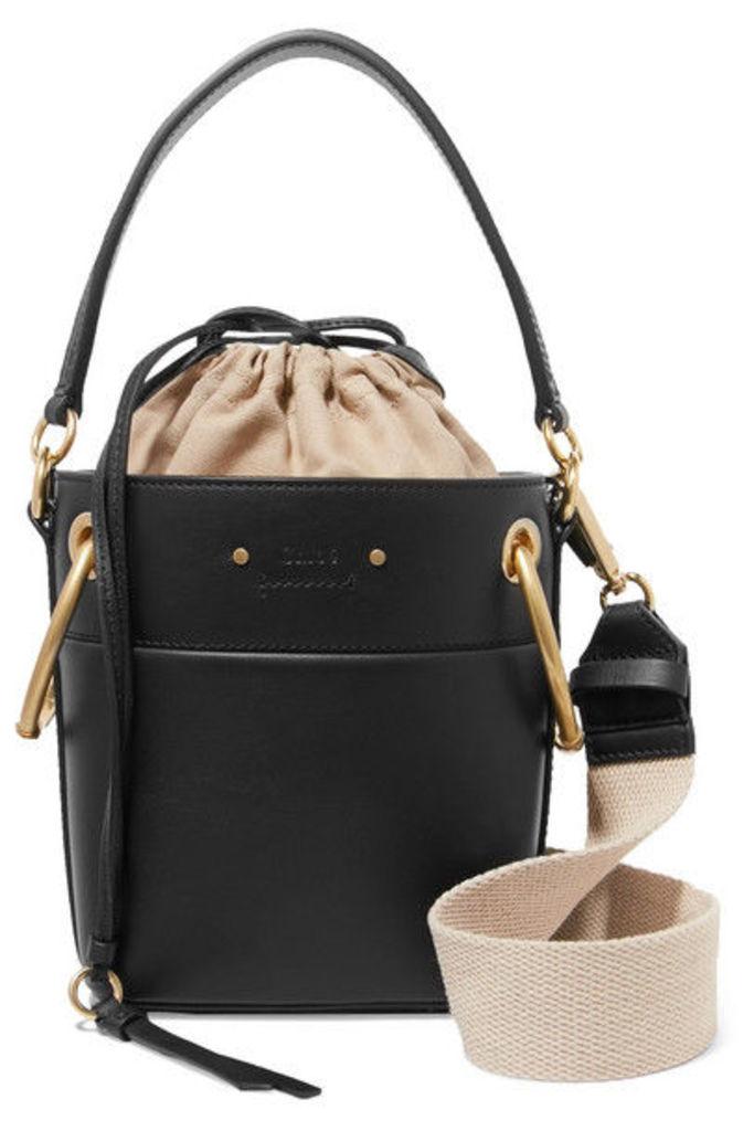 Chloé - Roy Mini Leather Bucket Bag - Black