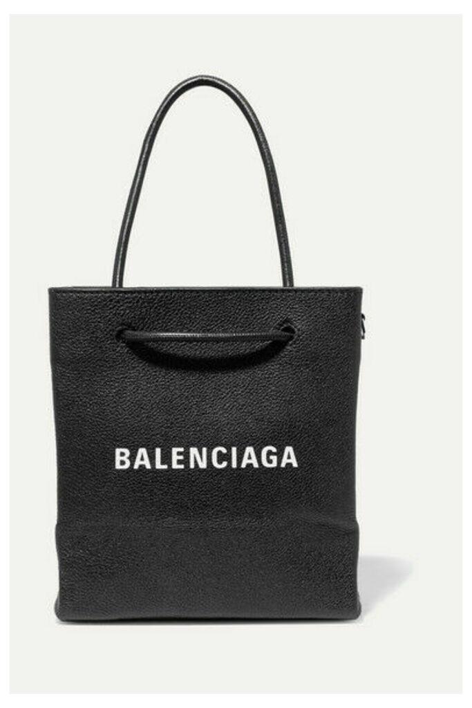 Balenciaga - Xxs Printed Textured-leather Tote - Black