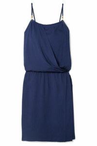 Heidi Klein - Ibiza Wrap-effect Voile Mini Dress - Navy