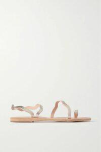 Marie France Van Damme - Big Flower Babani Metallic Silk-blend Chiffon And Jacquard Kimono - Gold