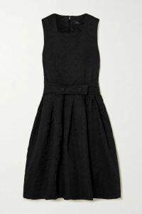 Safiyaa - Celine Embellished Hammered Silk-satin Gown - Midnight blue
