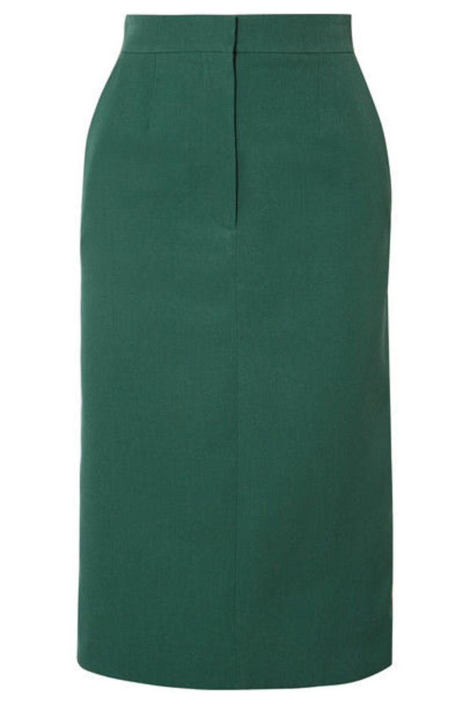 CALVIN KLEIN 205W39NYC - Striped Wool Midi Skirt - Emerald