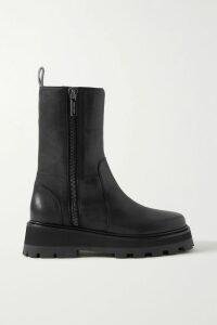 Oscar de la Renta - Checked Cotton-blend Bouclé Midi Dress - Navy