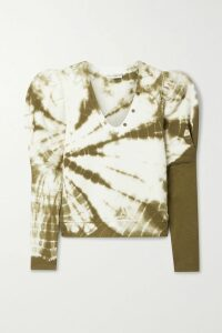 Rosie Assoulin - Polka-dot Flocked Cotton-blend Poplin Midi Skirt - White