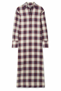 Elizabeth and James - Badgley Checked Cotton Maxi Dress - Purple