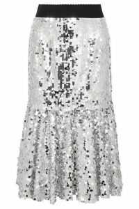 Dolce & Gabbana - Paillette-embellished Tulle Midi Skirt - Silver