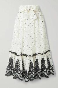 SAINT LAURENT - Lace-up Leather Mini Skirt - Black
