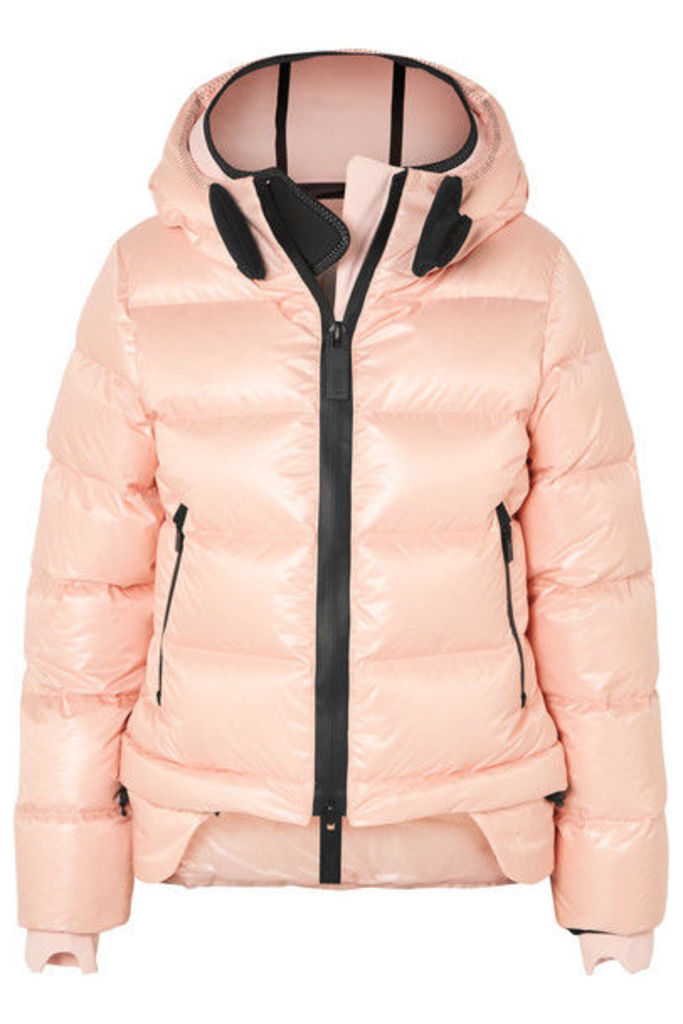 TEMPLA - Nano Hooded Quilted Shell Down Coat - Pink