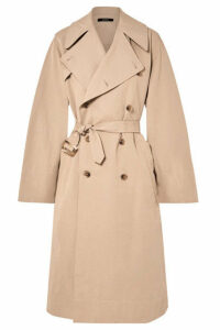 Bassike - Belted Cotton And Linen-blend Trench Coat - Beige
