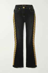 Nanushka - Gingham Woven Trench Coat - Brown