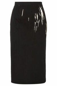 Prada - Printed Denim Midi Skirt - Black