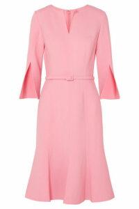 Oscar de la Renta - Belted Wool-blend Dress - Baby pink